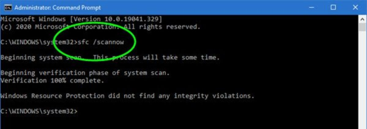System File Checker Use and Updating Drivers